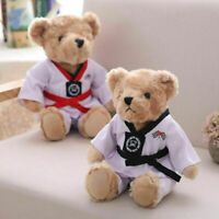 Teddy Bear Taekwondo Plush Toy Kawaii Animal Doll Stuffed Children Birthday Gift