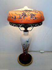 Lampe Tischlampe Glas Messing superbes Design 70er Jahre