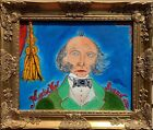 Original painting on canvas, portrait of Martin Van Buren signed Serg Graff, COA