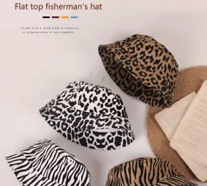 Beautiful 100% Cotton Scandi Summer Bucket Hat Animal Print Girls Boys Sun Hats
