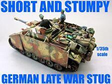 PRO BUILT 1/35 DRAGON GERMAN WWII 10.5 CM VERY LATE WAR STUG III G W/ VERLINDEN