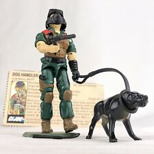 1984 Vintage GI Joe MUTT & JUNKYARD v1 K-9 Swivel Arm COMPLETE w/ File Card