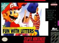Mario's Early Years Fun with Letters Super Nintendo Game SNES Used