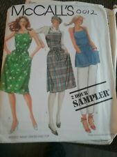 McCALL's  0012 MISSES' Apron Sewing Pattern WRAP-DRESS OR TOP. SIZES 6 to 20.