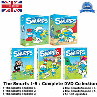 The Smurfs Season 1-5 Complete 1 2 3 4 5 Collection with 135 episodes New UK DVD