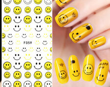3D Funny Emoji Full Self Adhesive Nail Art Water Transfer Decals Stickers Decor
