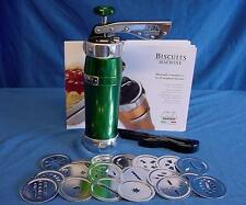 MARCATO BISCUIT MACHINE GREEN - QUALITY ITALIAN MADE BISCOTTI MAKER 20 SHAPES