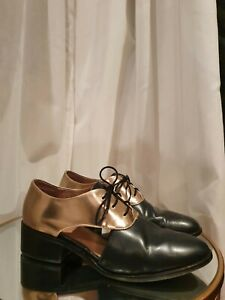 GORMAN Superb Navy and Bronze Lace Up Loafers Shoes size 38