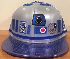 New Star Wars R2D2 RARE Big Face New Era 59FIFTY Gray Fitted Cap Size 7 1/4