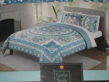 CYNTHIA ROWLEY 4 pc Reversible Comforter Set Full Queen Elephant / Medallions
