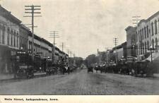 INDEPENDENCE, IA Main Street Scene ca 1910s Vintage Postcard