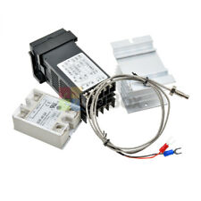 0 To 999 Digital Pid Thermostat Temperature Rex C100 Ssr Output K Thermocouple
