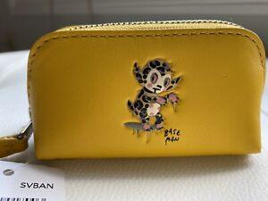 Coach Gary Baseman Buster Miniature Cosmetic Case 9 Banana  64770 NWT