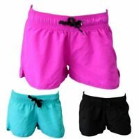 New Womens Casual Training Running Jogging Gym Sport Shorts Elastic Waist