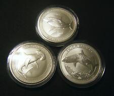 2014 2015 2016 Australian Great White Hammerhead Tiger Shark 1/2 oz Silver Coin