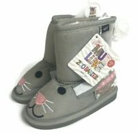 MUK LUKS Unisex Trixie Bunny Zoo Boots Toddlers Size 8 Grey