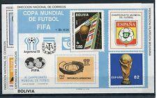 Bolivien Block 98/99 postfrisch / Fußball ................................1/1364