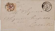 # 1877 CASSINO: LETTERA DA CASSINO PER CASERTA - TASSATO c. 30 (n. 7)