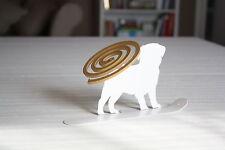 porta spirali antizanzare e porta incenso cane carlino bianco spirhello®
