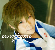 Free! Iwatobi Swim Club Tachibana Makoto Short Anime Cosplay Full Wig + freegift