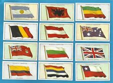 Players cigarette cards - FLAGS OF THE LEAGUE OF NATIONS - Full set