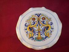 """Deruta ~ Ceramiche ~ Pedestal Scalloped Cake Stand 11"""""""