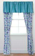 "Laura Ashley Arietta Rod Pocket Drapery 82X84"" & Valance 86"" Purple Blue Floral"