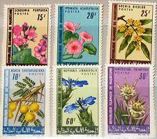 MAURITANIA MAURETANIEN 1966 282-87 206-11 Flowers Blumen Flora Plants MNH