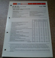 Inspektionsblatt Yamaha DT 80 LC2 Typ 53V Baujahr 1988