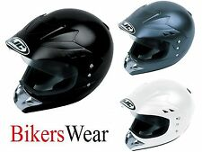 HJC CL-XS Full Face Motorcycle Adventure Helmet Gloss Black Size XS- £34.99 SALE