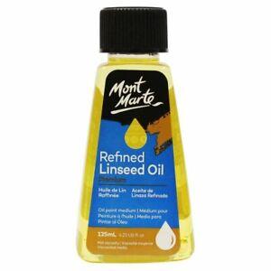 Mont Marte Oil Medium - Refined Linseed Oil 125ml