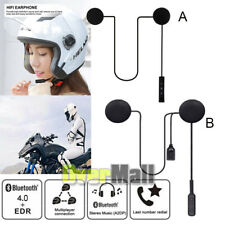 2020 Wireless BT Bluetooth Motorcycle Helmet Headset MP3 Microphone Speaker USA