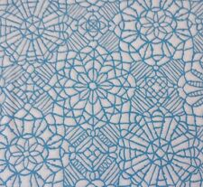 Amazing Lace Studio 8 BTY Quilting Treasures Blue White 100% Cotton Screenprint