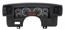 1990-93 Ford Mustang Dakota Digital Black Alloy & Red VHX Analog Gauge Kit
