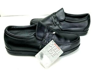 Red Wing Mens Steel Toe Work Safety Shoe 10.5 EE Black Leather Loafer 6607 New
