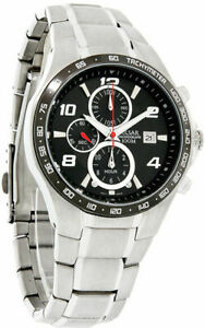 Pulsar PF8373 Men's Sports Chronograph Black Dial Stainless Steel Date Watch