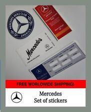 Mercedes-Benz internal stickers + service Car Club America W116 W124 W126 W201