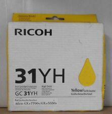 RICOH Cartuccia di stampa GC 31yh YELLOW AFICIO GX e 5550n 7700n 405704 OVP