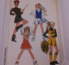 Simplicity Cheerleader Majorette Uniform 8782 8766 8779 Girls Teen Uncut Ff 80s