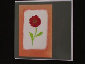 Flowers - Love: handmade greeting card
