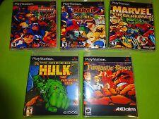 Empty Cases! Marvel Super Heroes Capcom vs. Street Fighter Hulk Fantastic PS1