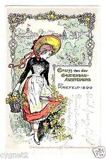 Postcard German 1899 Krefeld Horticulture Exposition