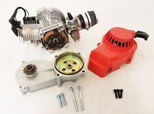 49CC MINI DIRT BIKE COMPLETE ENGINE WITH TRANSFER BOX RED PULL START MINI MOTO