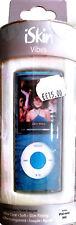 iSkin Vibes Apple iPod Nano 4G Flexible Clear Case - Zebra Blue NEW