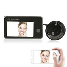 "4.3"" LCD Display 720P Peephole CMOS Camera WiFi Digital Video Doorbell Kit L6A4"