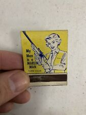Vintage Marlin Shotgun Rifle Advertising Matchbook HUNTING GAS OIL GUNS