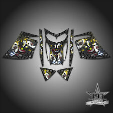 SKI-DOO REV MXZ SNOWMOBILE SLED WRAP GRAPHICS DECAL KIT 03-07 EVIL JOKER YELLOW
