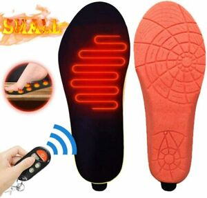 Keep Feet Warm Fishing Hiking, Balleen.E Heated Insole Skiing Foot Warmer Cutting Heated Shoes Insoles for Hunting USB Rechargeable Heated Shoes Insoles