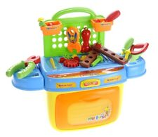 Kids Tool Box Pretend Playset With Lights & Sound Compact Portable New