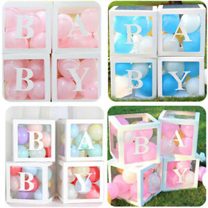 Customize Transparent Balloon Letter Number Box Birthday Baby Shower Xmas Decor